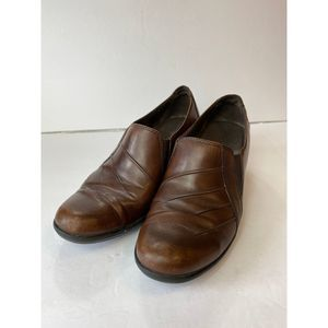 Clark's Brown Leather Clogs
